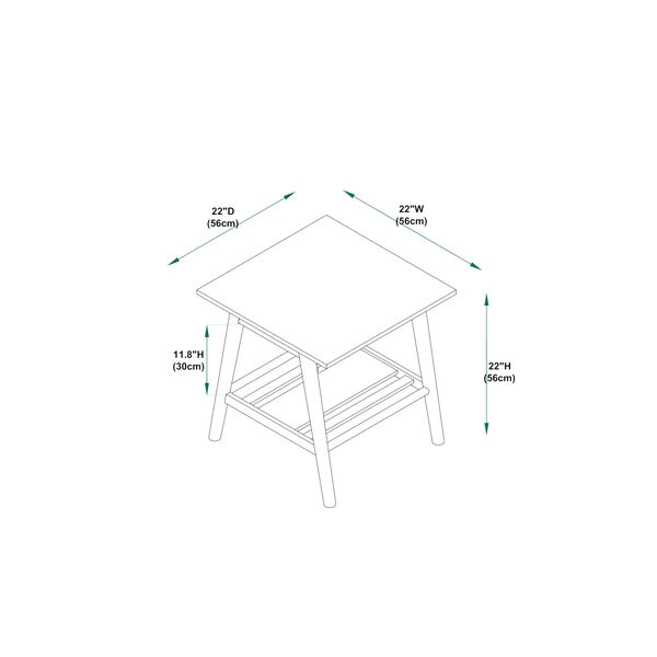 Emma Walnut Coffee Table and End Table, Three Piece, image 2