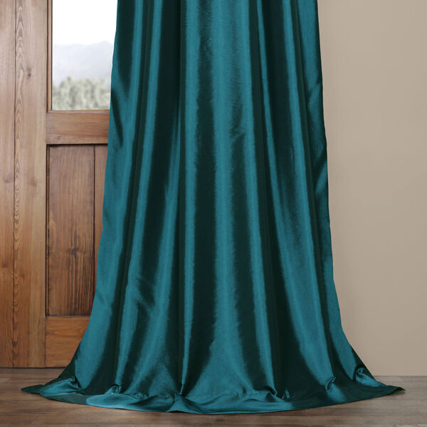 Mediterranean Faux Silk Taffeta Single Panel Curtain, 50 X 120, image 5