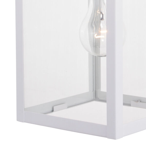 Medinah Textured White One-Light Outdoor Wall Sconce, image 4