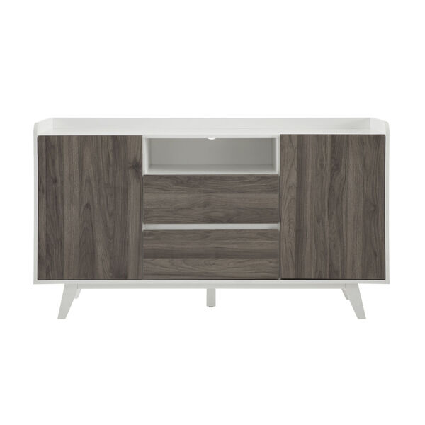 Friday Solid White and Slate Grey Two Door Sideboard, image 6