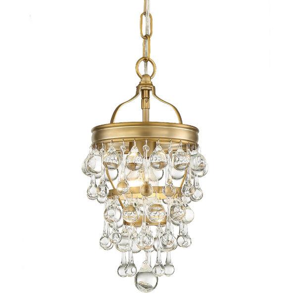 Calypso One-Light Vibrant Gold Mini Chandelier, image 1