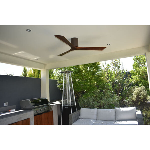 Irene-H 3 Textured Bronze 52-Inch Hugger-Style Ceiling Fan with Wood Blades, image 3