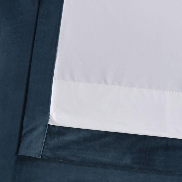 Blue 108 x 50 In. Plush Velvet Curtain Single Panel, image 11