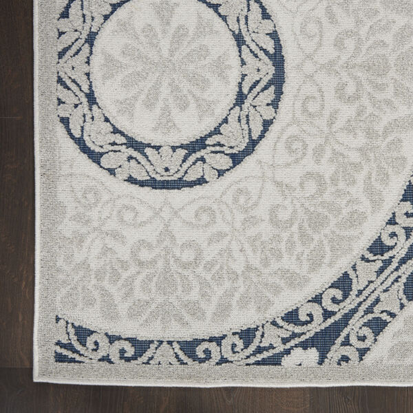 Calobra White and Blue Indoor/Outdoor Area Rug, image 4