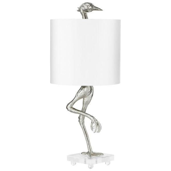 Silver Leaf Ibis Table Lamp, image 1