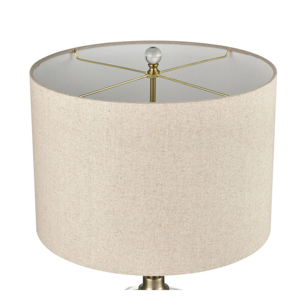 Annetta Antique Brass and Gold Two-Light Table Lamp, image 3