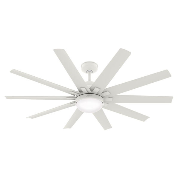 Overton Matte White 60-Inch Two-Light DC LED Ceiling Fan, image 1