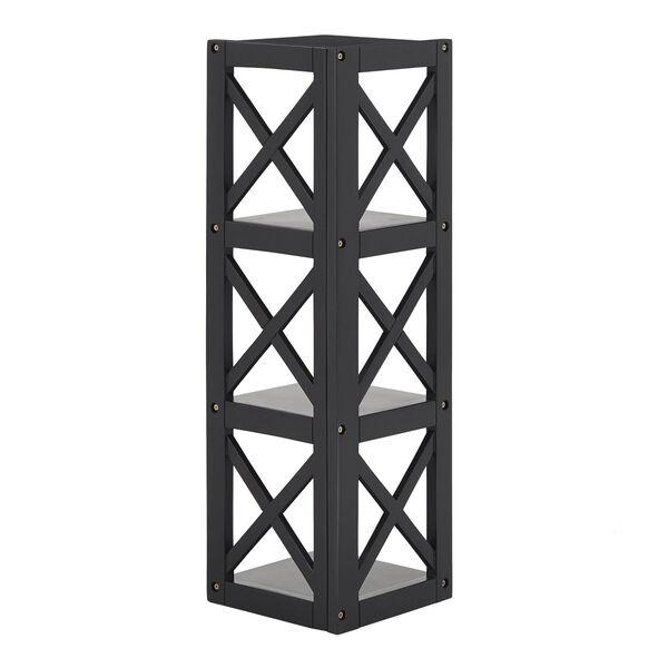 Tanya Black X-Frame Three-Shelve Bookcase, image 4