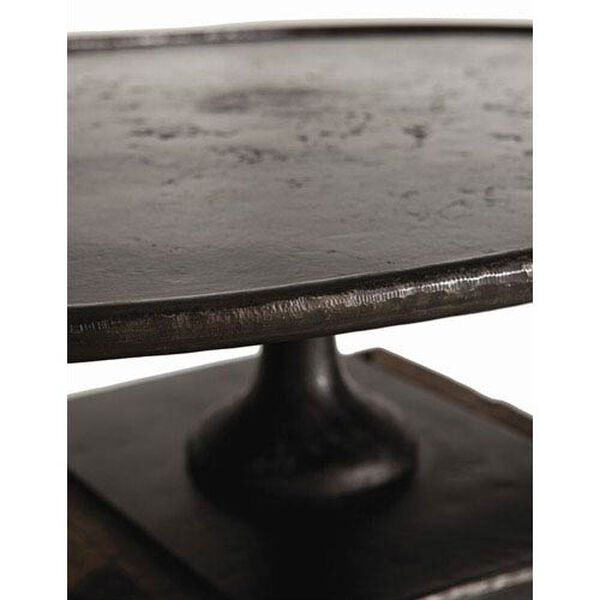 Anvil Cast Iron and Reclaimed Wood Side Table, image 3