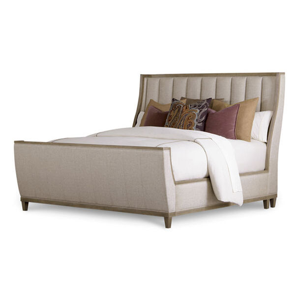 Cityscapes King Chelsea Upholstered Shelter Sleigh Bed, image 1