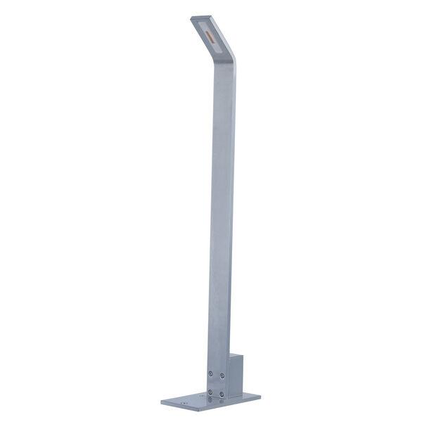 Alumilux Satin Aluminum One-Light LED 3-Inch Path Lighting with Base, image 1