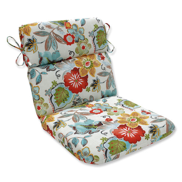 Outdoor / Indoor Alatriste Ivory Rounded Corners Chair Cushion, image 1