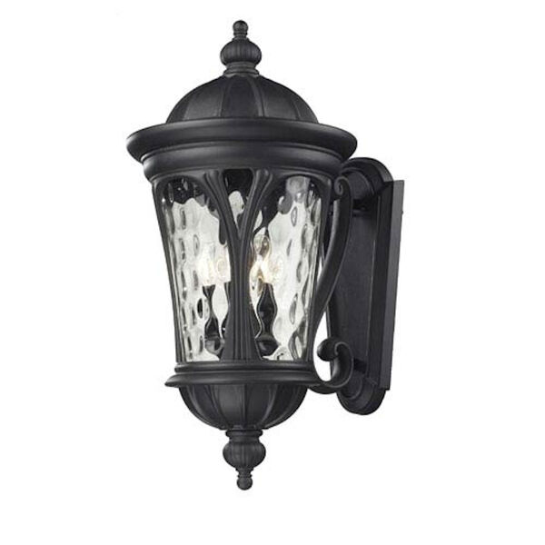 Doma Five-Light Black Outdoor Wall Mount with Clear Waterglass, image 1