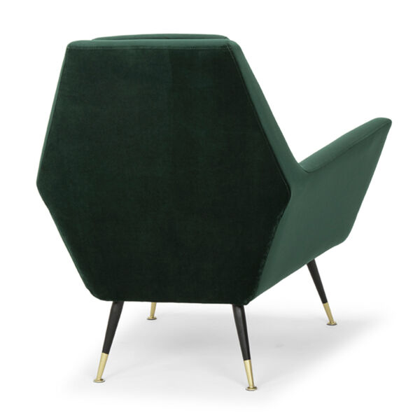 Vanessa Emerald Green and Black Occasional Chair, image 5