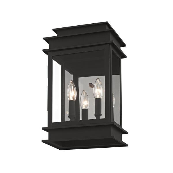 Princeton Black Two-Light 15-Inch Wall Lantern, image 1