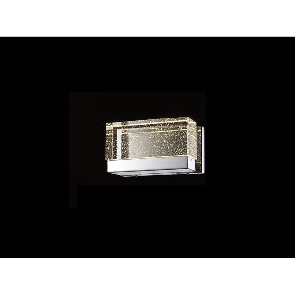 Glacier Avenue Polished Nickel 9-Inch LED Bath Bar, image 1