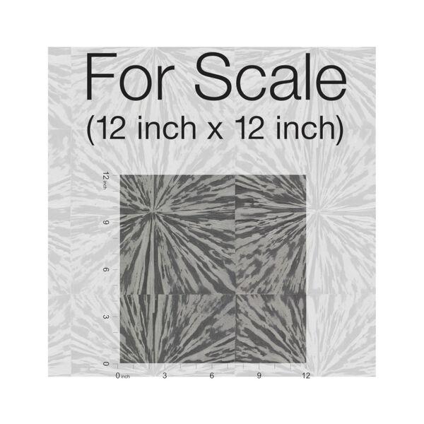 Antonina Vella Elegant Earth Charcoal Squareburst Geometric Wallpaper, image 3