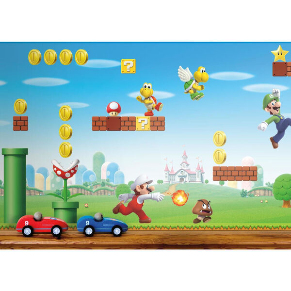 Mario Scene Peel Red, Blue And Green Peel and Stick Wallpaper, image 3