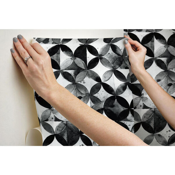 Paul Brent Moroccan Black Peel and Stick Wallpaper, image 6