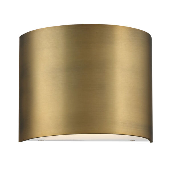 Pocket Aged Brass Three-Inch LED Wall Sconce, image 2