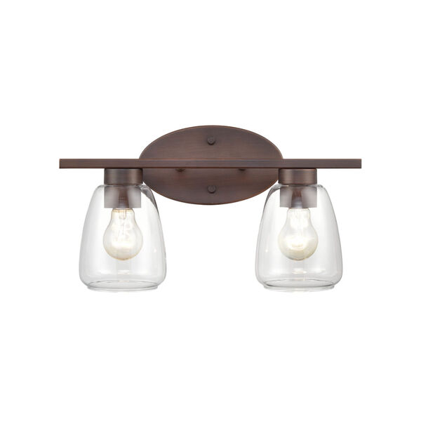 Satin Nickel 16-Inch Two-Light Bath Vanity, image 4