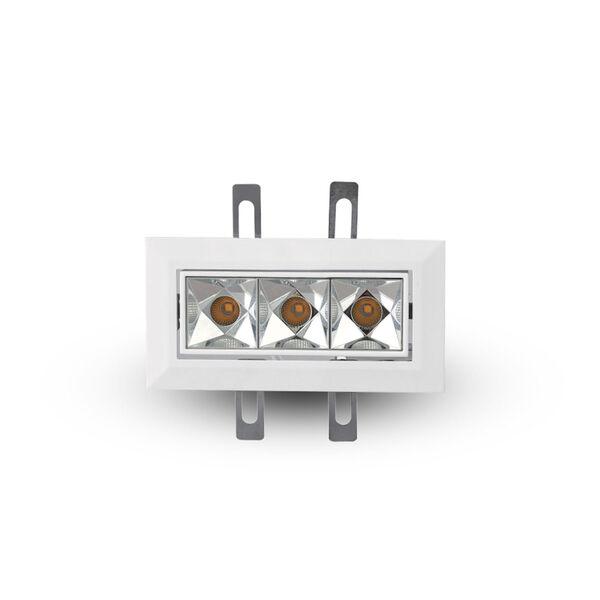 Rubik White Three-Light Adjustable LED Recessed Downlight, image 3