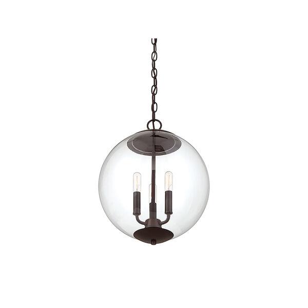 Whittier Oil Rubbed Bronze Three-Light Globe Pendant, image 4