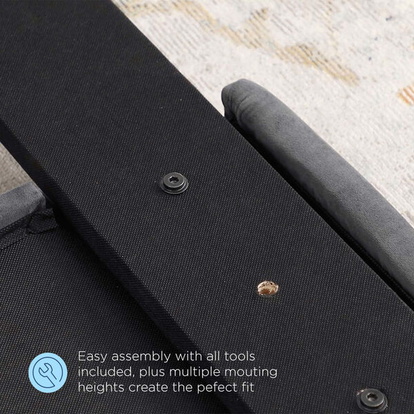 Monroe Charcoal and Black Diamond Button Tufted Full/Queen Performance Velvet Headboard, image 6