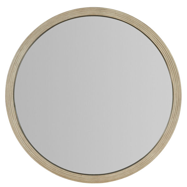 Cascade Taupe Round Mirror, image 2
