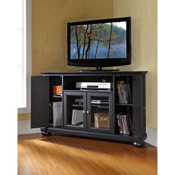 Alexandria 48-Inch Corner TV Stand in Black Finish, image 4