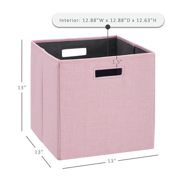 Liam Pink Storage Bin, Pack of 2, image 6