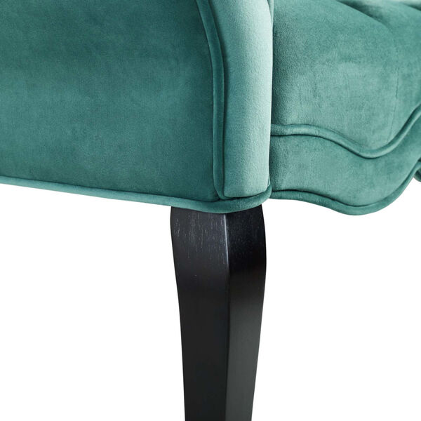 Vivian Chesterfield Style Button Tufted Performance Velvet Bench, image 5