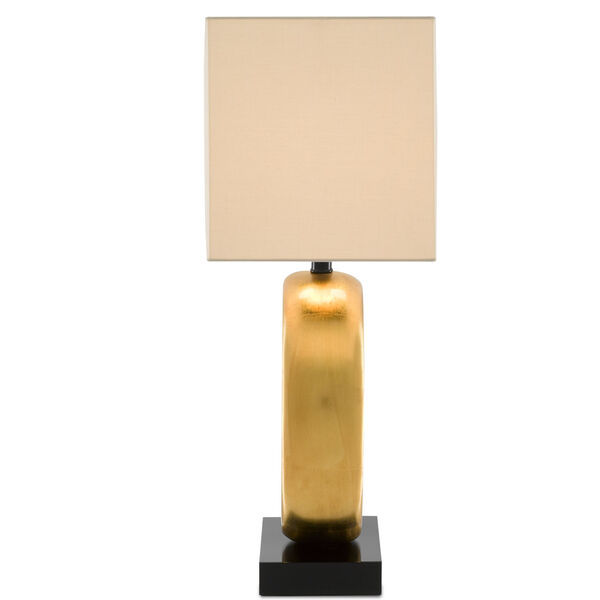 Kirkos Painted Gold and Glossy Black One-Light Table Lamp, image 4