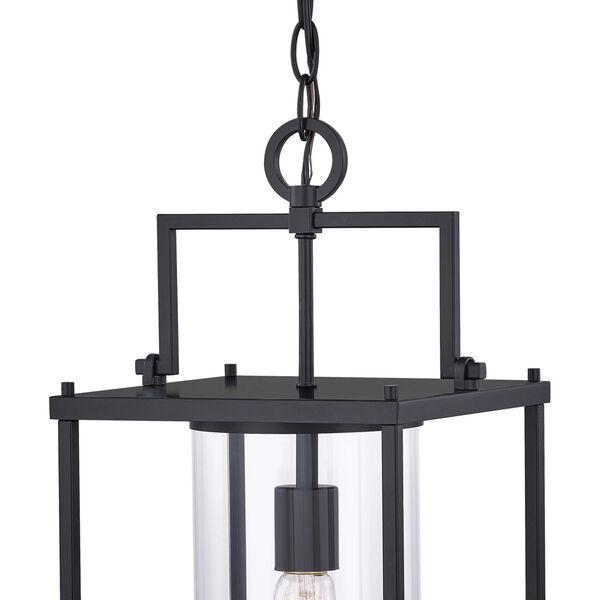 Garrett Matte Black 9-Inch One-Light Outdoor Hanging Lantern with Clear Glass, image 4