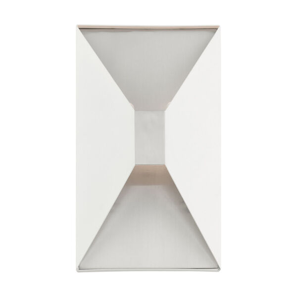 Lexford Textured White Two-Light ADA Wall Sconce, image 3