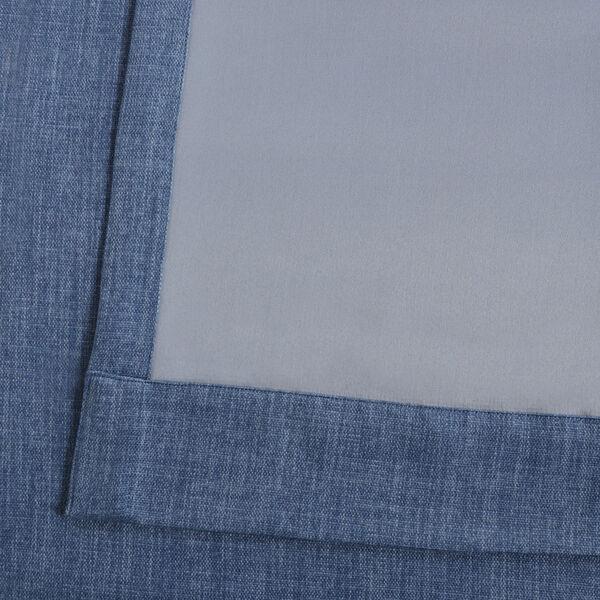Blue Denim 96 x 50 In. Faux Linen Blackout Curtain Single Panel, image 6