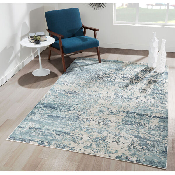 Genevieve Blue Rectangular: 5 Ft. 1 In. x 7 Ft. 7 In. Rug, image 2