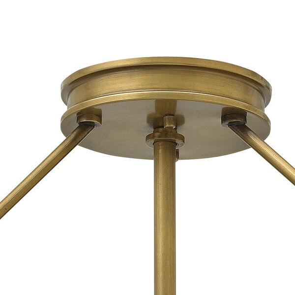Collier Heritage Brass 22-Inch Four-Light Semi-Flush Mount, image 3