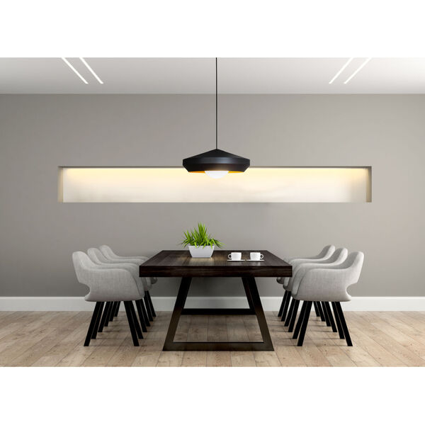 Hoxton White and Gold One-Light Pendant, image 2
