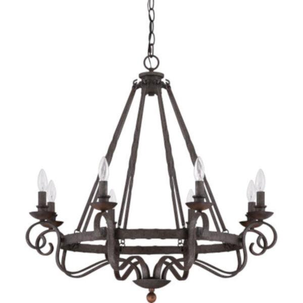 Wellington Black Eight-Light Chandelier, image 2