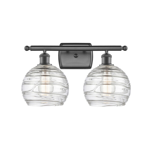 Ballston Oil Rubbed Bronze 16-Inch Two-Light LED Bath Vanity with Clear Glass Shade, image 1