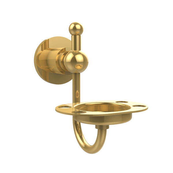 Polished Brass Tumbler/Toothbrush Holder, image 1