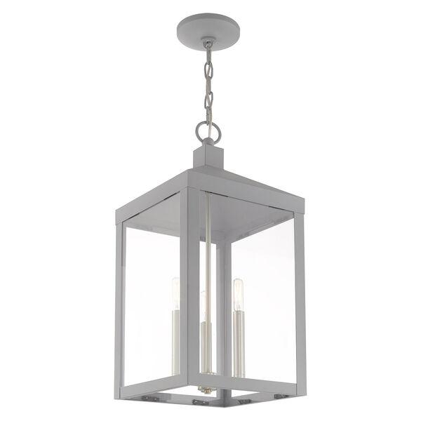 Nyack Nordic Gray 11-Inch Three-Light Pendant Lantern, image 6