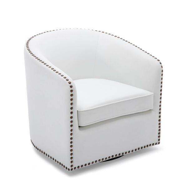 Tyler Milky Swivel Arm Chair, image 3