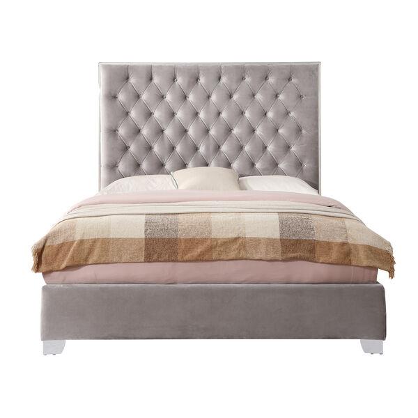 Vivian Cal. King Silver Gray Cal King Upholstered Bed, image 1