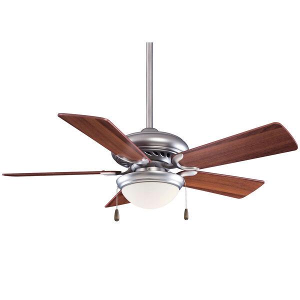 Supra Brushed Steel and Dark Walnut 44-Inch LED Ceiling Fan, image 1