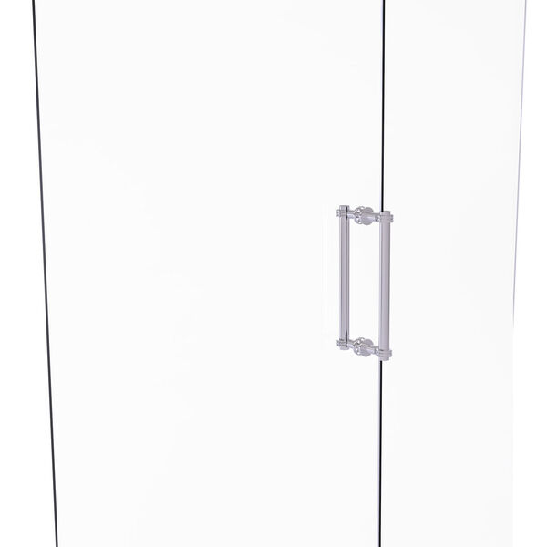 Polished Chrome 12-Inch Back to Back Shower Door Pull with Twisted Accent, image 1