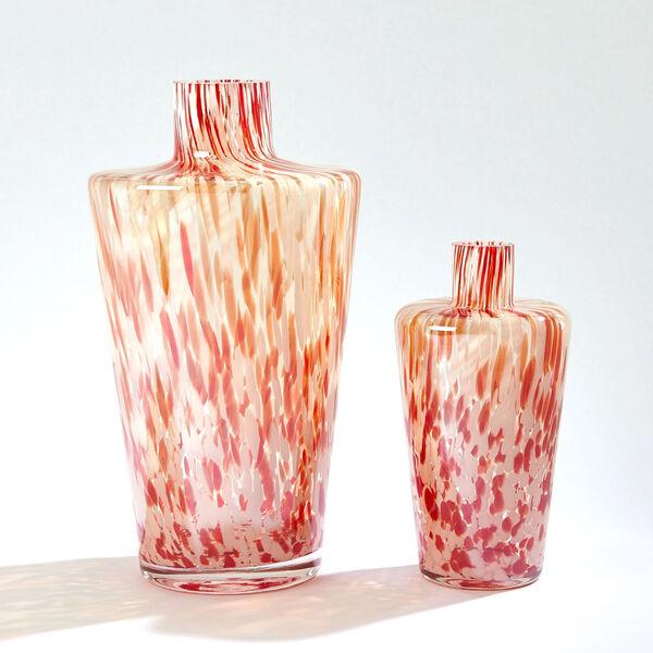 Red and Beige Confetti Shoulder Vase, image 3