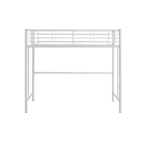 Sunset White Metal Twin Loft Bunk Bed, image 3