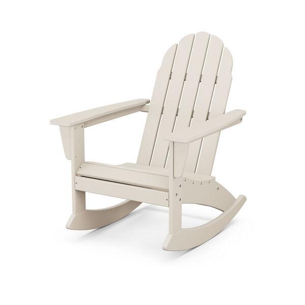 Vineyard Sand Adirondack Rocking Chair, image 1